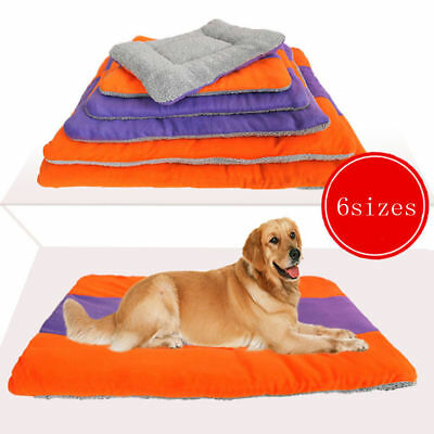 Extra Large Size Fleece Pet Puppy Dog Cat Bed Mat Pad Kennel Cushion Mattress
