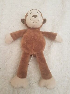 "Mothercare Brown Monkey Soft Toy Comforter approx 10"" New No Labels"
