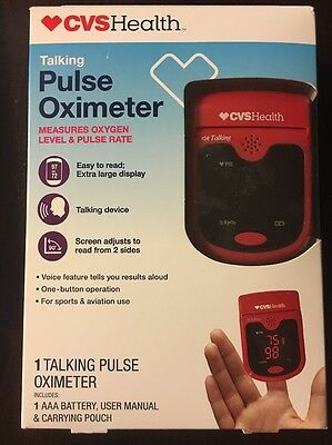 CVS Health talking pulse oximeter Measure Oxygen Level & Pulse Rate