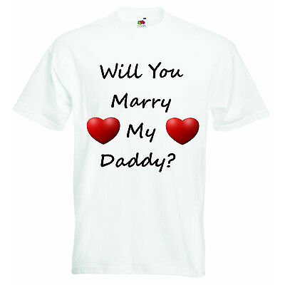 Will You Marry My Daddy Personalized Baby Boys Girls Unisex T-shirt Clothing
