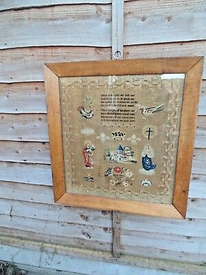 Antique Sampler,  Great is the Lord  Dated 1844 By  Susan Eliza Marrison