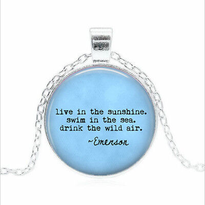live in the sunshine Tibet silver Glass dome Necklace chain Pendant Wholesale