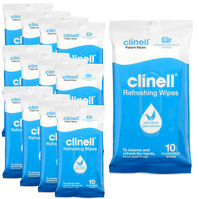 Clinell Premium Multi Purpose Hands Face Body Cleaning Refreshing Clean Wipes