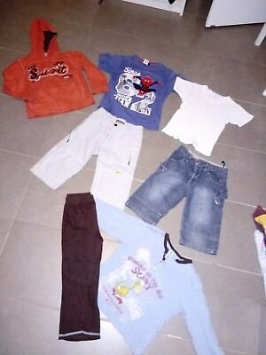 Tee-Shirt -Pantalon -Pyjama Garcon 5 Ans - Lot De Vetements
