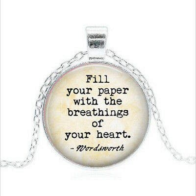 Fill your paper with Tibet silver Glass dome Necklace chain Pendant Wholesale