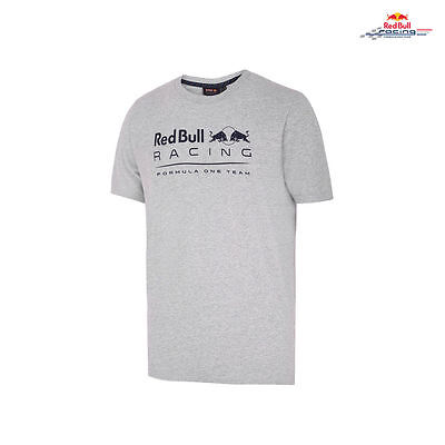 OFFICIAL F1 Red Bull Racing Mens Logo Fan T-shirt Grey – NEW