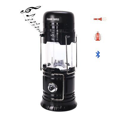 LED Camping Lantern, Portable Multi-functional Outdoor Bluetooth Speaker Solar