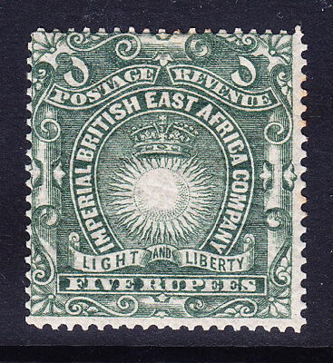 KUT British East Africa Co 1890 SG1a 5rs grey-green - l/m/m - little o/c cat £30