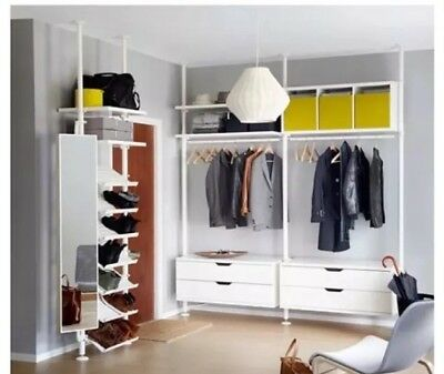 IKEA - STOLMEN # Modular /Open /Wardrobe / Storage / Drawers / Rails & IKEA - STOLMEN # Modular /Open /Wardrobe / Storage / Drawers / Rails ...