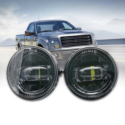 For 2009-2014 Ford F150 LED Fog Lights 2400 Lumens Direct Fit PAIR NEW