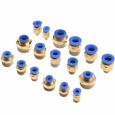 5 Pcs Pneumatic Air Straight Quick Fitting male thread  Hose Connector Full size