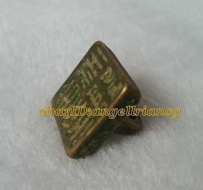 Collectables! Dynasty Old General official Bronze seal Antique Statue