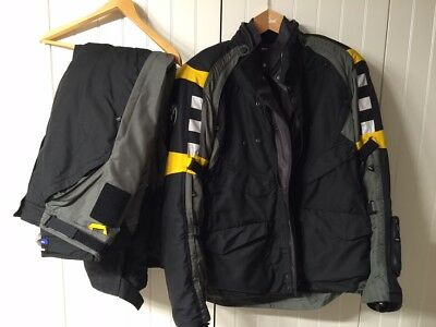 Bmw Rallye 3 Black/Yellow 2015 Motorcycle Touring Of Road Textile Suit, All Size