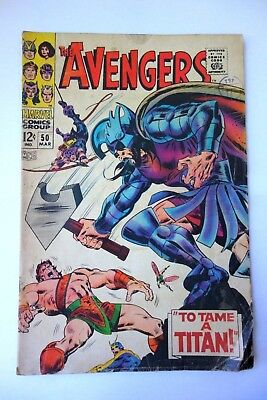 """~ THE AVENGERS ~ ISSUE 50 1967 SILVER AGE Marvel COMIC """"To tame a Titan!"""""""