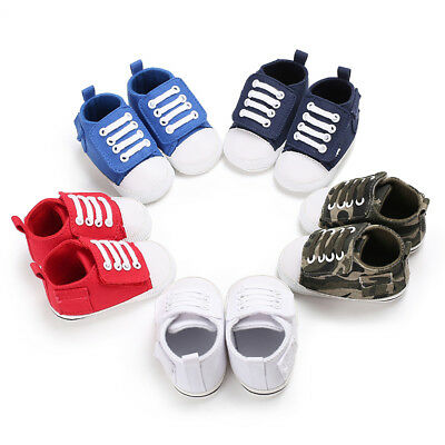 LK_ Casual Toddler Baby Kids Canvas Shoes Magic Tape Anti-Slip Crib Prewalker