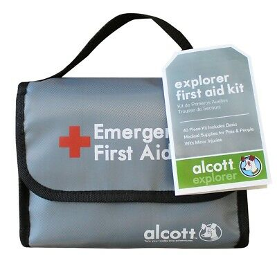 Alcott Explore First Aid Kit for Dogs + Pets + People 46 Piece Item Travel Size