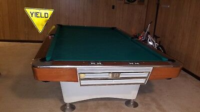 1962 Brunswick Goldcrown *Pool Table* Billiard Table* Restored* 9 Ft
