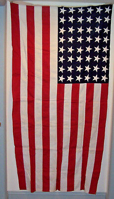 48 STAR US FLAG, , 6' x 3', COTTON, VIBRANT COLORS, NEVER USED, EX. CONDITION