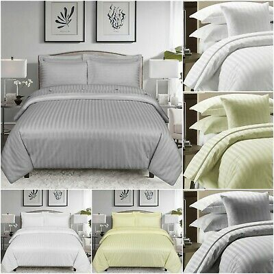 Grey Black White Duvet Quilt Cover 3 Piece Bedding Set with 2 Matching Pillows
