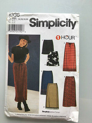 Simplicity Skirt Pattern,9336,Sizes 14-20,EU 40-46,1hour Sewing Project,