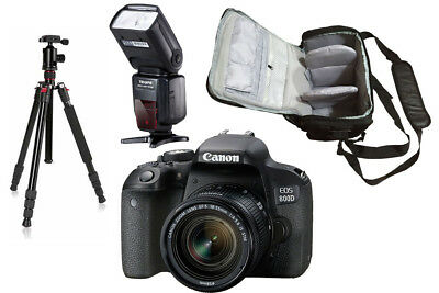 Canon 800D + 18-55mm IS STM + KamKorda Bag + Flash + Tripod UK NEXT DAY DELIVERY