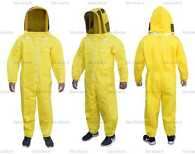 Yellow Heavy Duty Cotton Beekeeping Suit Unisex Bee Suit Beekeepers Medium Size