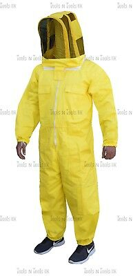 Yellow Heavy Duty Cotton Beekeeping Suit Unisex Bee Suit Beekeepers Large Size