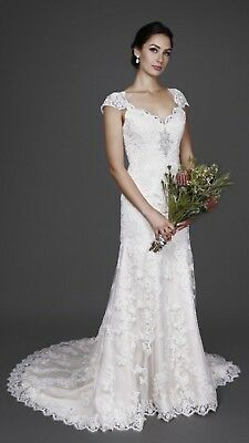 Ivory Lace Wedding Dress Bridal Chic 1657 **BRAND NEW**