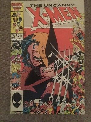 UNCANNY X-MEN #211 (Marvel Comics) November 1986 MUTANT MASSACRE! FN/VFN