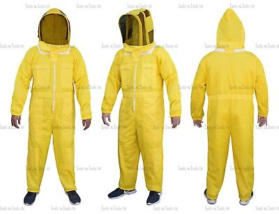 1Yellow Three Layers Mesh Ultra Beekeeping Suit Bee Ventilated Cool Air X-Large