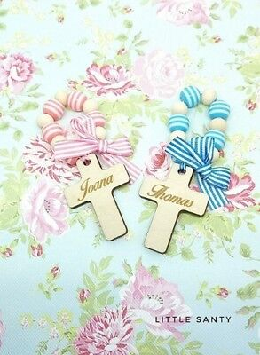Mini Rosaries - Christening, Baptism gift. Personalised. Handmade.