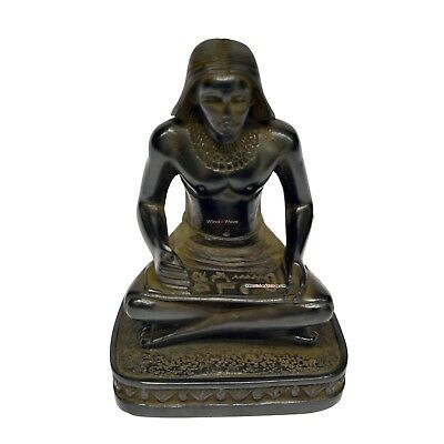 Handmade Ancient Egyptian Scribe Writer Statue