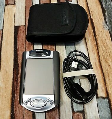Compaq iPAQ H3950 Pocket PC With Case Cradle and Cable Lead