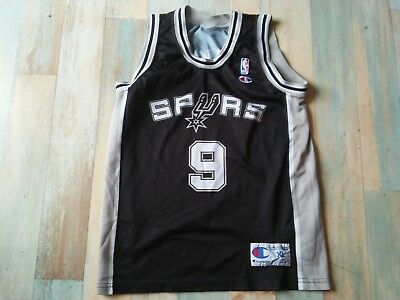 Maillot BASKET BALL CHAMPION USA NBA SPURS N°9 PARKER TAILLE 13/14 ANS TBE