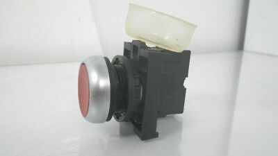 M22-K01Moeller Red Push Button Stop 10a 600vac 1a 250vdc(Used Tested)