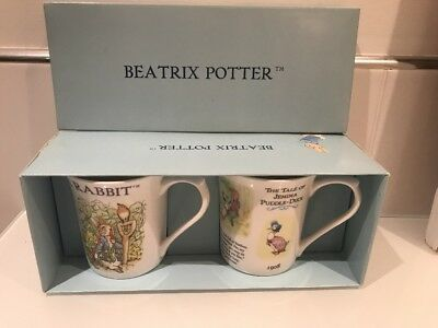 Rare. Collectors Peter Rabbit & The Tale Of Jemima Puddle-duck 2 mug set. Boxed