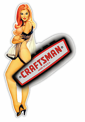 """Craftsman Made in the USA sexy girl sticker decal 3"""" x 5"""""""