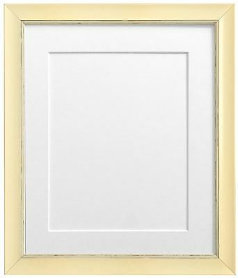 Nordic Cream Distressed Picture Photo Frames & White Black Ivory Blue Pink Mount