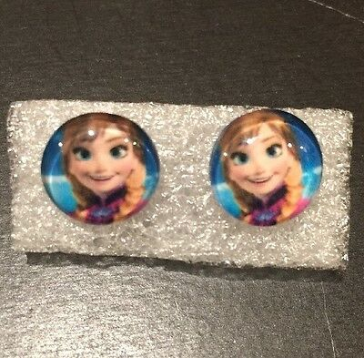 5 Pairs - New  DISNEY FROZEN ANNA Silicone Non-allergen Stud  Earrings
