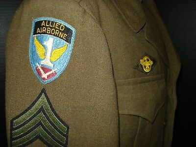 WW2 Ike Jacket With Allied Airborne & Occupation Patches