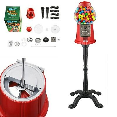 Vintage Candy Gumball Machine Home Candy Bank Dispenser Vending with Stand Ball