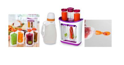 Infantino Fresh Squeezed Squeeze Station Baby Food Puree Reusable Pouches Maker