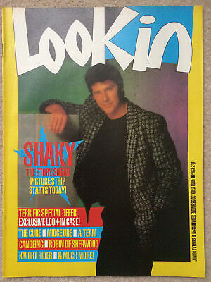 Look In Magazine 26 Oct 1985 #44  Shakin' Stevens  /  The Cure's Robert Smith