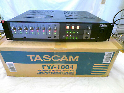 TASCAM  FW 1804  Audio Midi Interface  Firewire