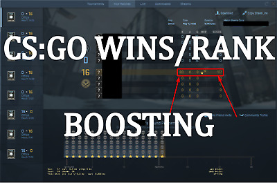 CS:GO MM WIN/Rank BOOSTING - You play - Fast and 100% save Wins - BOOST