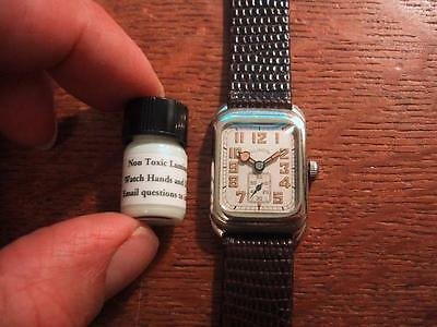 Hard To Find Luminous Paint For Vintage Watch Dials and Hands buy it now option