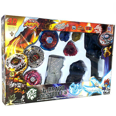 Beyblade Lot Set w/ Big Bang Cosmic Pegasus Blue Wing, VariAres, & Evil Befall