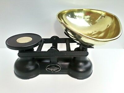 Vintage Salter Black Heavy Metal Kitchen Scales, The Traditional Scale-England