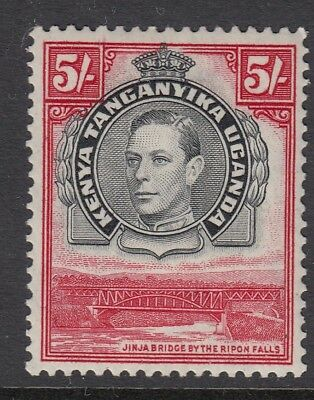 KUT 24 Feb 1944 SG148b 5/- black and carmine - mounted mint