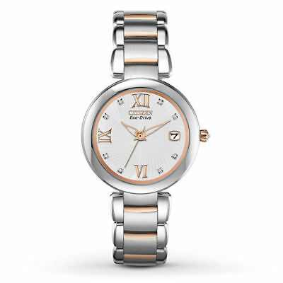 NEW* Citizen Eco-Drive EO1116-57A Signature Marne Ladies Two Tone Watch